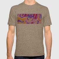 Lavender Mens Fitted Tee Tri-Coffee SMALL