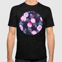 Twilight Roses Mens Fitted Tee Tri-Black SMALL
