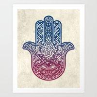 Talk To The Hamsa Art Print