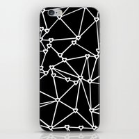 Abstract Heart Zoom Black iPhone & iPod Skin