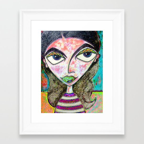 BETTY BLUE Framed Art Print