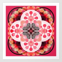 Pink illusion Art Print