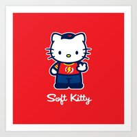 Soft Kitty Art Print