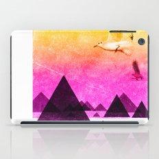 seagulls in shiny sky iPad Case