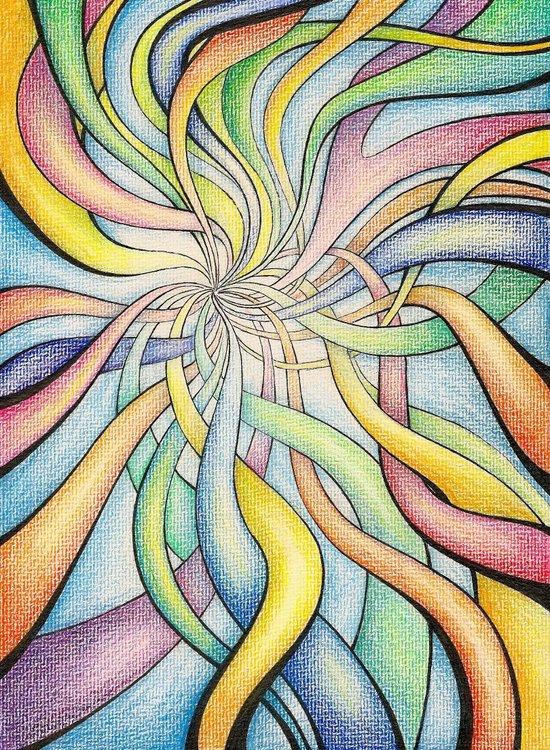 Crazy rainbow Art Print
