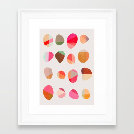 Painted Pebbles 5 Framed Art Print