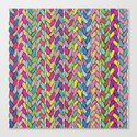 Rainbow Braids Canvas Print