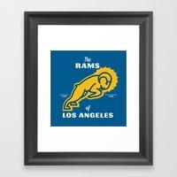 LA Rams Framed Art Print