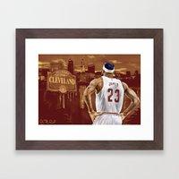LeBron, The Return Framed Art Print