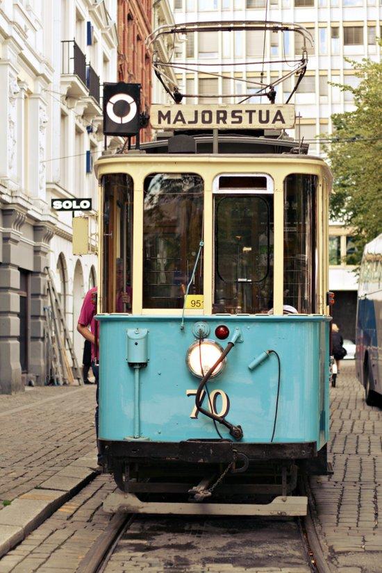 the tram Art Print