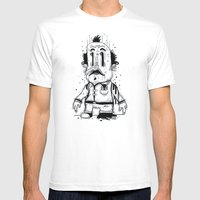 Stinky Man Mens Fitted Tee White SMALL