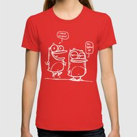 Grow Up :) Womens Fitted Tee Red SMALL