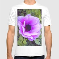 Pink Poppy Anemone I Mens Fitted Tee White SMALL