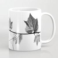 wine leaf abstract III Mug