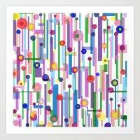 Plink (see also Plink Cherry and Plink Purple) Art Print
