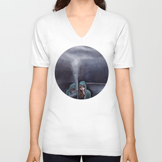 never go home (homesick) V-neck T-shirt