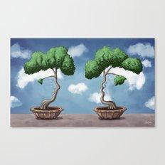 'Bonsai choose own way grow because root strong' Canvas Print