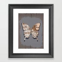 chicago - butterfly collection Framed Art Print