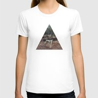 portrait T-shirts featuring Injured Coyote by Kevin Russ