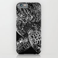 iPhone & iPod Case featuring Beneath the Waves the Sea Turtle Swims by Nathan Cole
