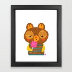 Lolli Bear Framed Art Print