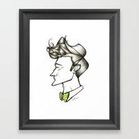 Bow Tie Guy Framed Art Print