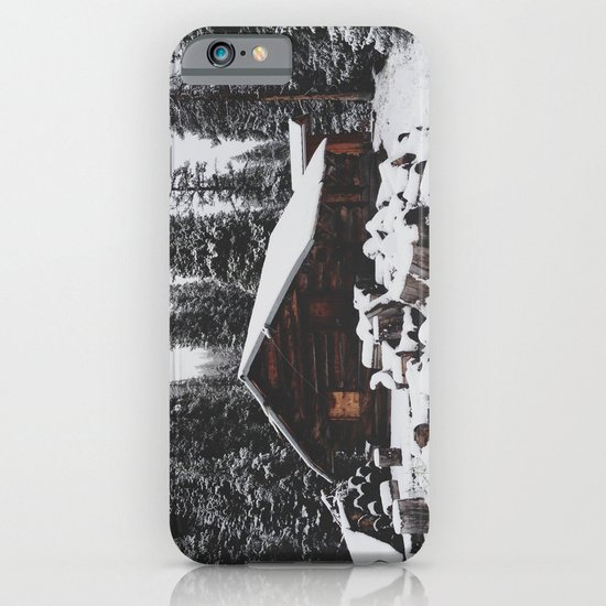 Winter Cabin iPhone & iPod Case