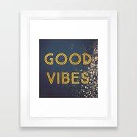 Good Vibes Framed Art Print