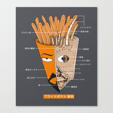 French Fries Anatomy Canvas Print