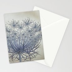 Vintage Wildflower Botanical Queen Anne's Lace in Blue Stationery Cards