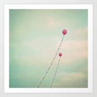 Whimsical Balloons Art Print