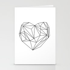 Heart Graphic (black On … Stationery Cards