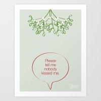 Under the mistletoe Art Print