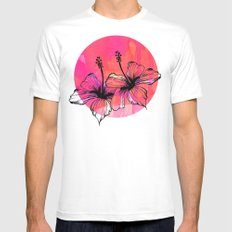 Summer Pink Mens Fitted Tee SMALL White