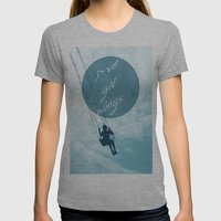 Wings Womens Fitted Tee Athletic Grey SMALL