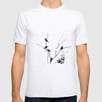 Tiny Sparrows Mens Fitted Tee Ash Grey SMALL