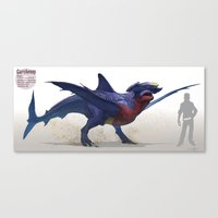 Pokemon-Garchomp Canvas Print