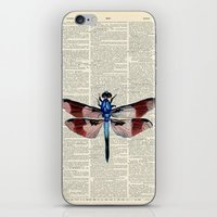 Vintage Dragonfly iPhone & iPod Skin