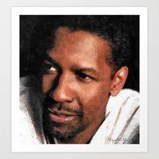 Hollywood - Denzel Washington Art Print