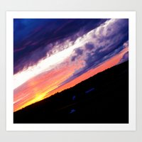 Swedish midsummer sky Art Print