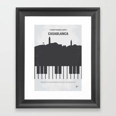 No192 My Casablanca minimal movie poster Framed Art Print