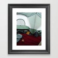 Camping Gnome Framed Art Print