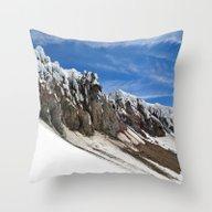 Throw Pillow featuring Mount Hood  by Stevyn Llewellyn
