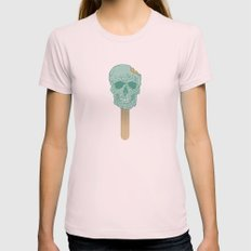 We All Scream Womens Fitted Tee Light Pink SMALL