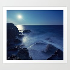 Blue Moonlight Art Print