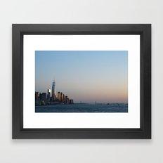 NYC Sunset  Framed Art Print