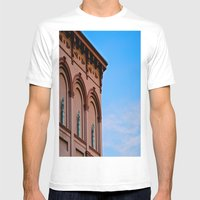 Cherubs on the Ledge Mens Fitted Tee White SMALL