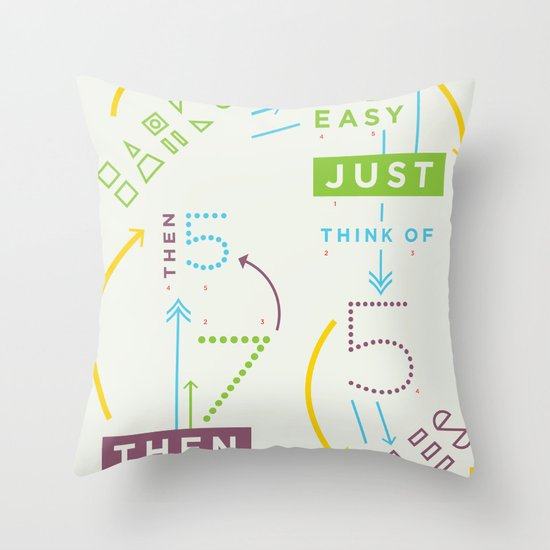 Haikuglyphics - Haikanics Throw Pillow