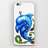 Dolphin Blue iPhone & iPod Skin