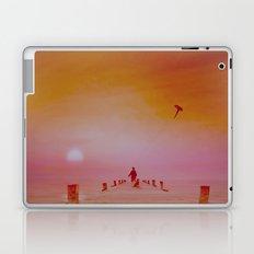 LANDSCAPE-Boy with kite and dog Laptop & iPad Skin